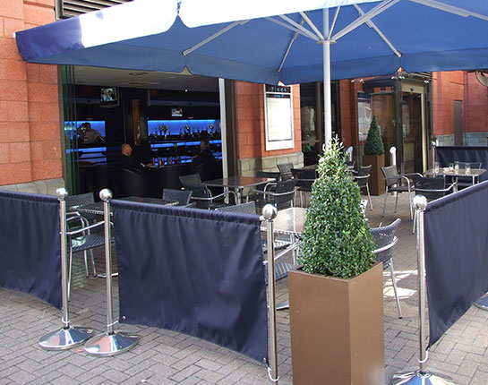 Cafe Promotional Barriers